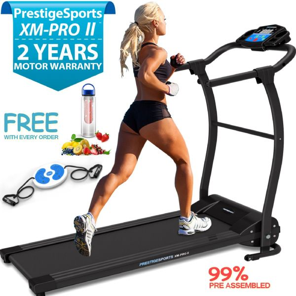 XM-PRO II Elite™ Bluetooth Motorised Folding Treadmill With Incline
